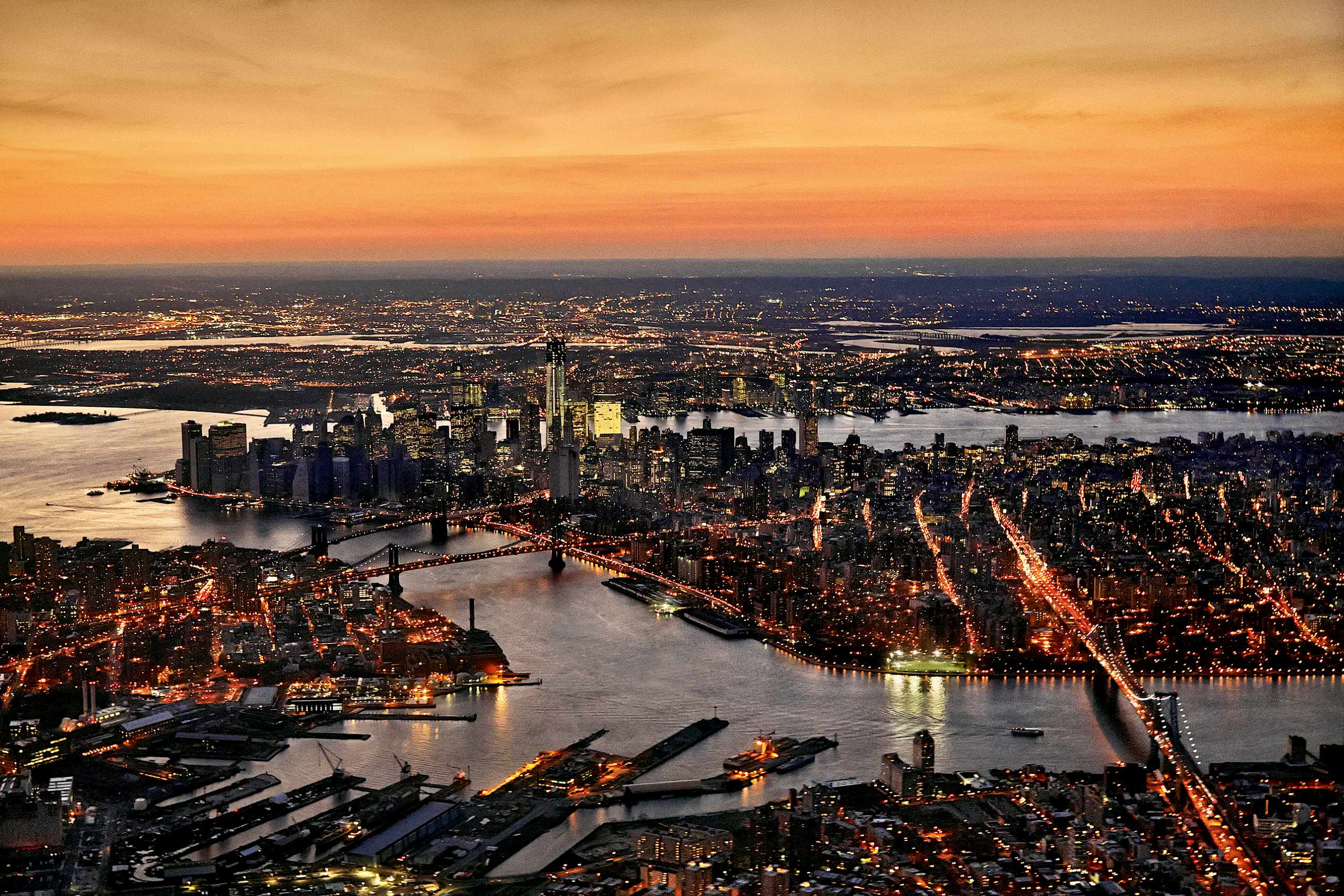 Day into night, New York